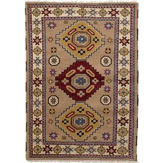 eCarpetGallery Royal Kazak Brown Wool Hand-knotted Rug (4'2 x 6'0)