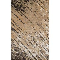 """Momeni Zen Brown Hand-Tufted Wool and Viscose Rug - 3'6"""" x 5'6"""""""