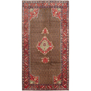 eCarpetGallery Hand-knotted Koliai Brown Wool Rug (4'5 x 8'8)