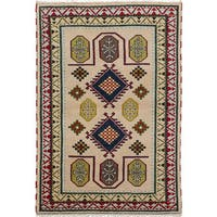 ecarpetgallery Royal Kazak Ivory Wool Hand-knotted Rug (4'7 x 6'7)