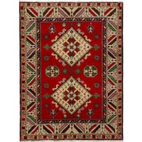 eCarpetGallery Royal Kazak Red Wool Hand-knotted Rug (4'9 x 6'4)