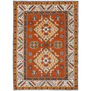 ecarpetgalleryRoyal Kazak Browwn Wool Hand-Knotted Rug (4'9 x 6'7)