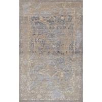 eCarpetGallery La Seda Ivory Wool Art Silk Blend Hand-knotted Area Rug (4'11 x 7'11)