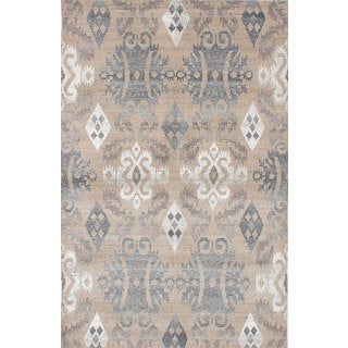 eCarpetGallery La Seda Ivory Wool and Art Silk Hand-knotted Area Rug (5'0 x 7'8)