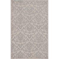 eCarpetGallery Hand-made Elina Grey Wool Rug (5'0 x 8'0)