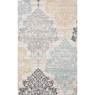 ecarpetgallery Allure Brown/Ivory Microfiber Handmade Rug (5'0 x 8'0)