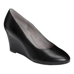 Women's Aerosoles Partnership Wedge Black Leather