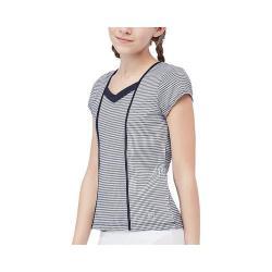 Girls' Fila Gingham Cap Sleeve Top Peacoat Gingham/Peacoat