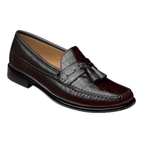 Men's Florsheim Pisa Black Nappa/Croco Print Leather