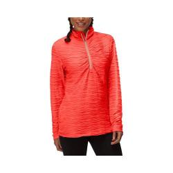 Women's Fila On The Run Half Zip Shirt Cherry Tomato/Peach Poise