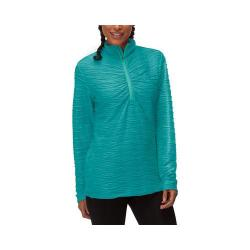 Women's Fila On The Run Half Zip Shirt Emerald Teal/Electric Green
