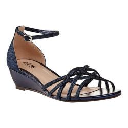 Women's Pink Paradox London Avery Wedge Sandals Navy Synthetic