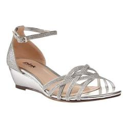 Women's Pink Paradox London Avery Wedge Sandals Silver Synthetic