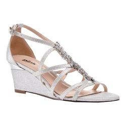 Women's Pink Paradox London Hadley Wedge Sandal Silver Synthetic