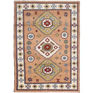 eCarpetGallery Royal Kazak Brown Hand-knotted Wool Rug (5'7 x 7'10)
