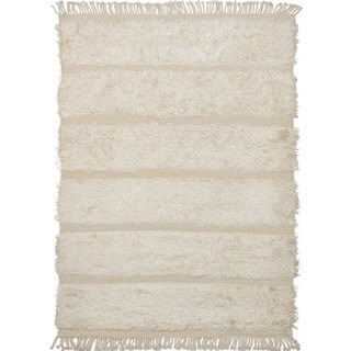 ecarpetgallery Royal Maroc Ivory Wool Hand-knotted Rug (5'7 x 7'11)