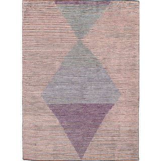 eCarpetGallery Mystique Brown Wool Hand-knotted Rug (5'8 x 7'9)