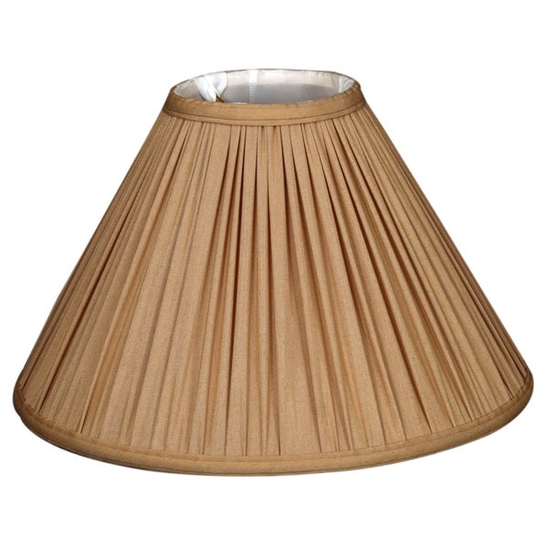 Royal Designs Coolie Empire Gather Pleat Basic Lamp Shade, Antique Gold, 6 x 18 x 11.5