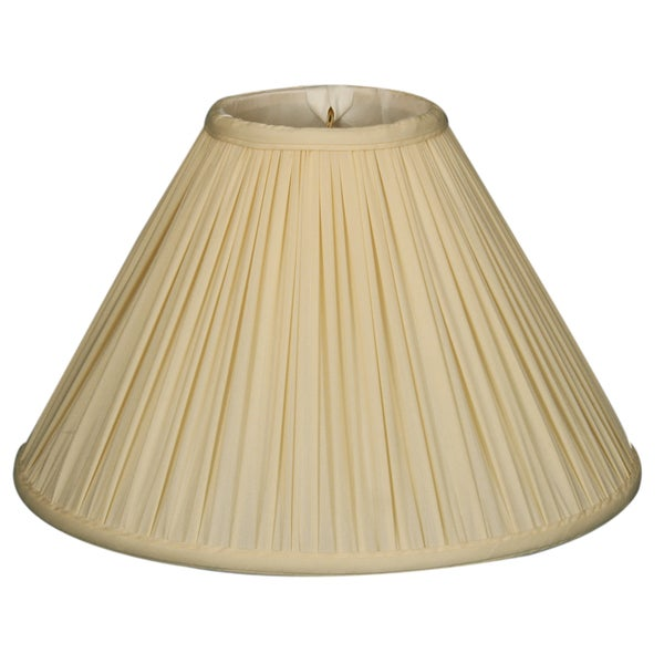 Royal Designs Coolie Empire Gather Pleat Basic Lamp Shade, Eggshell, 4.5 x 12 x 7.5