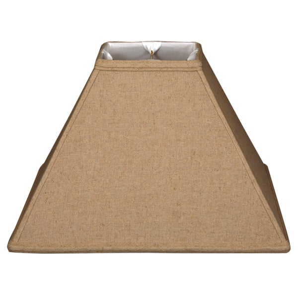 Royal Designs Square Sharp Corner Basic Lamp Shade, Linen Cream, 6 x 18 x 13
