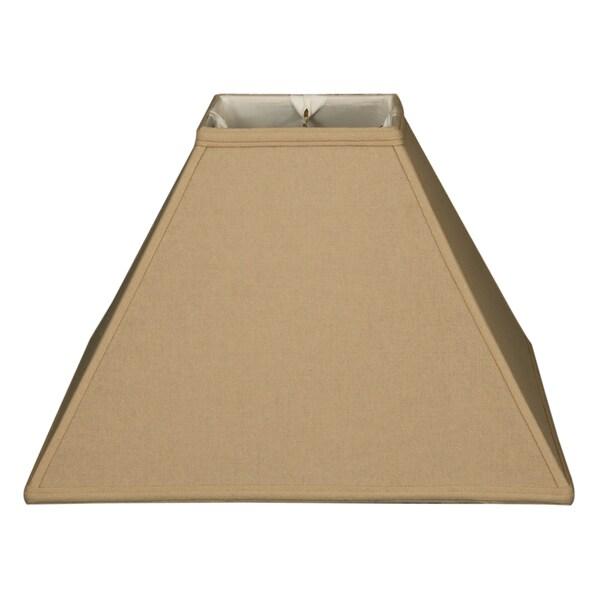 Royal Designs Square Sharp Corner Basic Lamp Shade, Linen Beige, 6 x 18 x 13