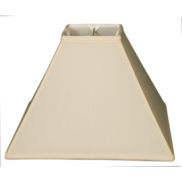 Royal Designs Square Sharp Corner Basic Lamp Shade, Eggshell, 6 x 18 x 13