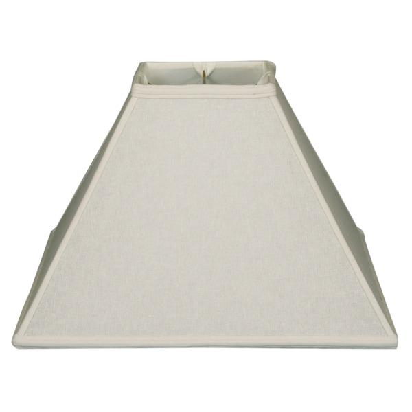 Royal Designs Square Sharp Corner Basic Lamp Shade, Linen White, 6 x 16 x 12.5