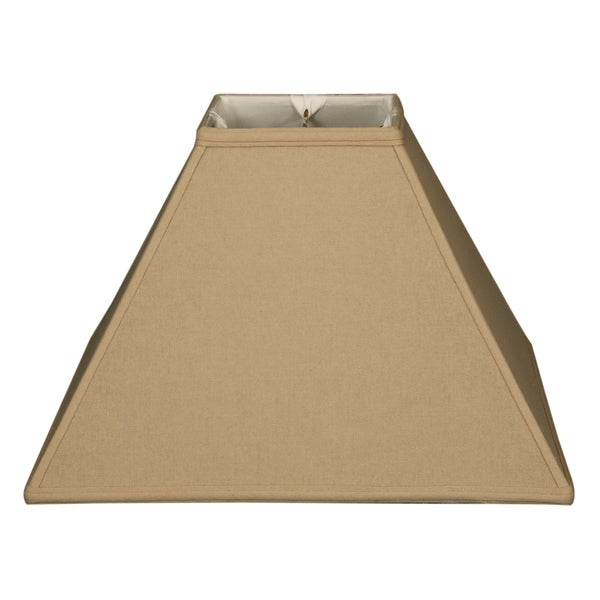Royal Designs Square Sharp Corner Basic Lamp Shade, Linen Beige, 6 x 16 x 12.5