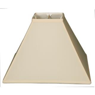 Royal Designs Square Sharp Corner Basic Lamp Shade, Eggshell, 5 x 14 x 11.5