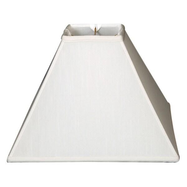 Royal Designs Square Sharp Corner Basic Lamp Shade, White, 4 x 12 x 9.5