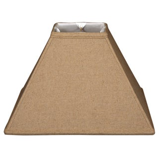 Royal Designs Square Sharp Corner Basic Lamp Shade, Linen Cream, 4 x 12 x 9.5