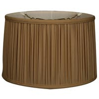 Royal Designs Shallow Drum Gather Pleat Basic Lamp Shade, Antique Gold, 15 x 16 x 10