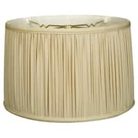 Royal Designs Shallow Drum Gather Pleat Basic Lamp Shade, Beige, 13 x 14 x 9