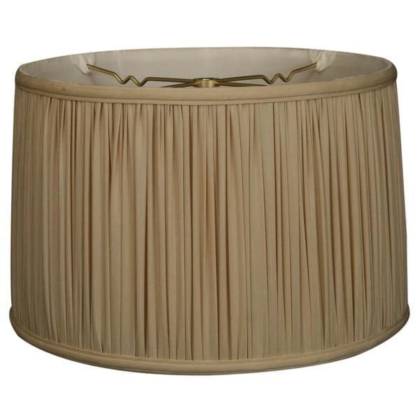 Royal Designs Shallow Drum Gather Pleat Basic Lamp Shade, Beige, 13 x 14 x 9