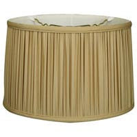 Royal Designs Shallow Drum Gather Pleat Basic Lamp Shade, Antique Gold, 13 x 14 x 9