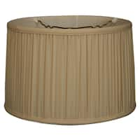 Royal Designs Shallow Drum Gather Pleat Basic Lamp Shade, Eggshell, 9 x 10 x 7