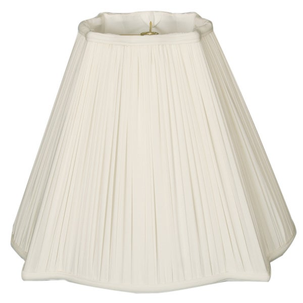 Royal Designs Fancy Square Gather Pleat Basic Lamp Shade, White, 6.75 x 16 x 13.25