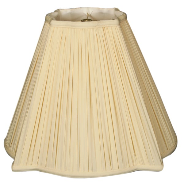 Royal Designs Fancy Square Gather Pleat Basic Lamp Shade, Eggshell, 6.75 x 16 x 13.25