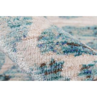 Momeni Rustic Romance Blue Runner Rug (2'3 X 8')