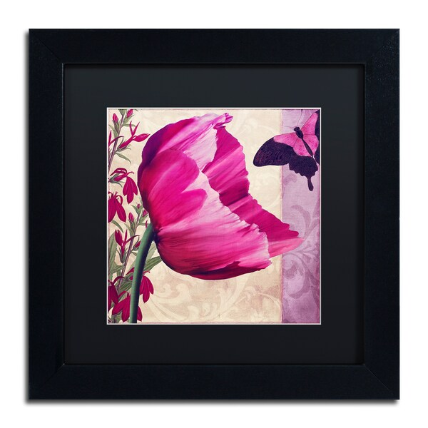 Color Bakery ' Pink Poppy II ' Matted Framed Art