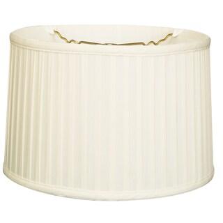 Royal Designs Shallow Drum Side Pleat Basic Lamp Shade, White, 15 x 16 x 10