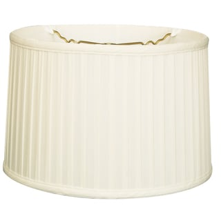 Royal Designs Shallow Drum Side Pleat Basic Lamp Shade, White, 13 x 14 x 9