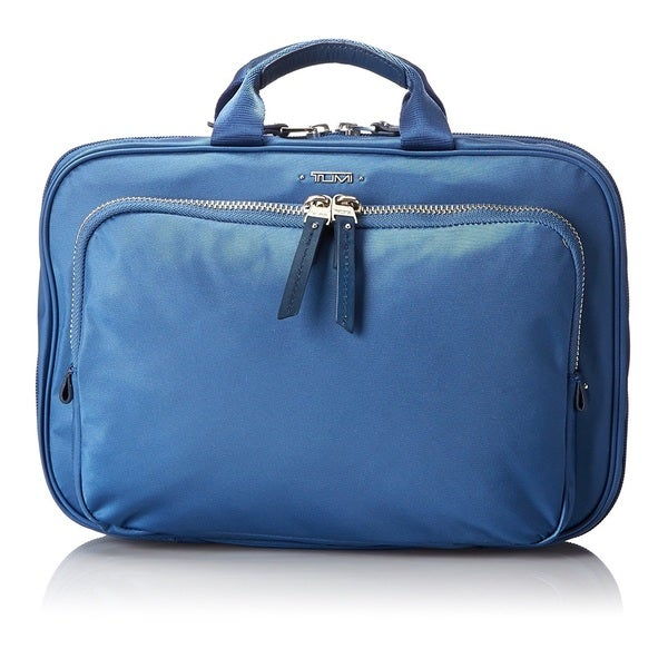 41273cfb45cd Shop Tumi Blue Nylon Toiletry Bag - Free Shipping Today - Overstock ...