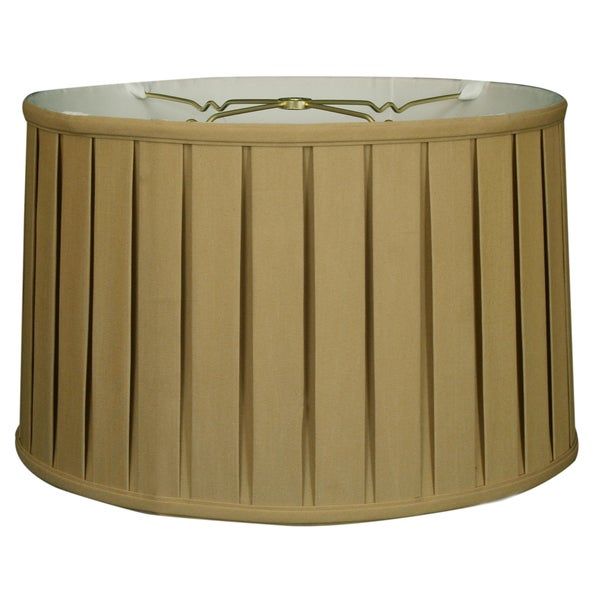 Royal Designs Shallow Drum English Box Pleat Basic Lamp Shade, Antique Gold, 15 x 16 x 10