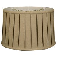 Royal Designs Shallow Drum English Box Pleat Basic Lamp Shade, Linen Cream, 13 x 14 x 9