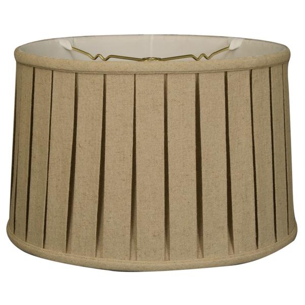 Royal Designs Shallow Drum English Box Pleat Basic Lamp Shade, Linen Cream, 13 x 14 x 9