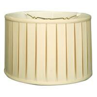 Royal Designs Shallow Drum English Box Pleat Basic Lamp Shade, Eggshell, 11 x 12 x 8.5