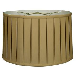 Royal Designs Shallow Drum English Box Pleat Basic Lamp Shade, Antique Gold, 11 x 12 x 8.5