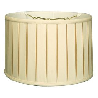 Royal Designs Shallow Drum English Box Pleat Basic Lamp Shade, Eggshell, 9 x 10 x 7