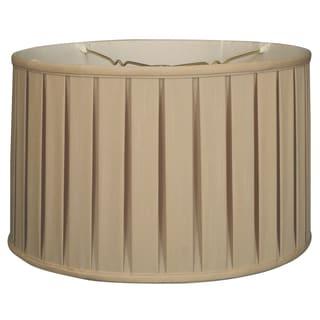 Royal Designs Shallow Drum English Box Pleat Basic Lamp Shade, Beige, 9 x 10 x 7